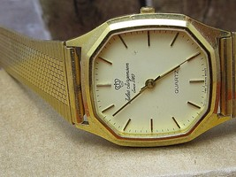 JULES JUNGERSEN VINTAGE QUARTZ NICE GOLD TONE MEN'S WATCH - $79.48