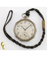 Gold Filled Decagon Elgin Antique Open Face Pocket Watch Gr 315 12S 15 J... - $224.80