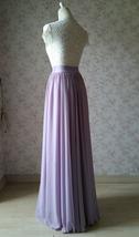 Women High Waisted Maxi Chiffon Skirt Summer Wedding Chiffon Skirts Many Colors image 6