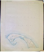 Authentic Antique Provincetown MA Topographic Map 1889/1921 - $47.40