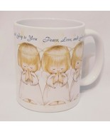 Child Angel Peace Love You Coffee Mug 11 oz Cup Hallmark Stars While Gold  - $14.99
