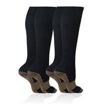Savoon Fitness tru Copper Compression Socks 2-Pair Anti-Fatigue Graduate... - $8.04
