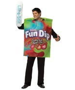 Fun Dip Costume Adult Tunic Men Food Candy Halloween Party Unique GC3985 - £38.00 GBP