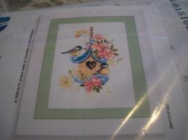 Vervaco Cross Stitch Kit~Bird On Blossom Pillow Top - $18.00