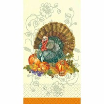 Traditional Thanksgiving Turkey 16 Ct Guest Napkins - $6.52