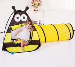 Indoor Children Tunnel Tent Bee Baby Kids Crawling Play Ball Outdoor Fun... - $50.84
