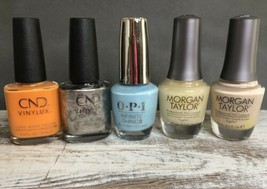 Professional Nail Polish Miscellaneous Lot of 5 New Bottle Varied Brands - $17.82