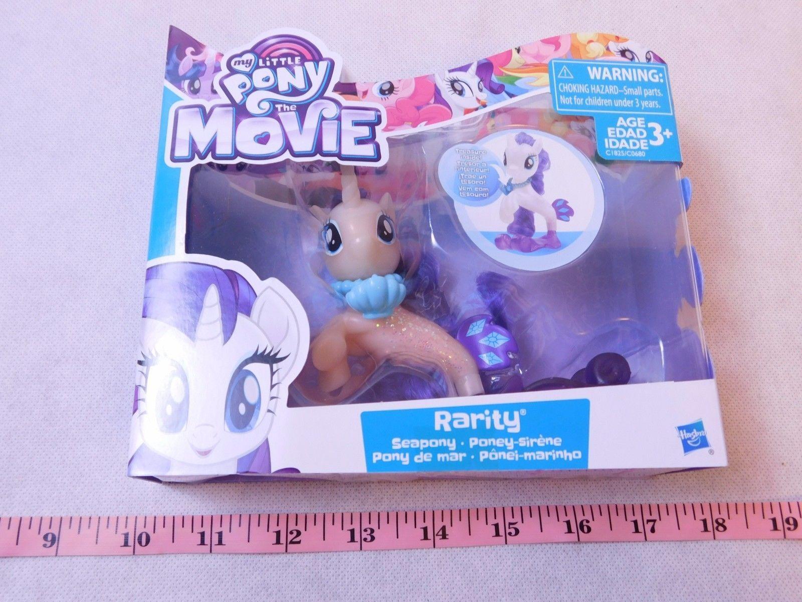 My Little Pony the Movie RARITY Seapony Mermaid Unicorn Pearly & Glitter NEW