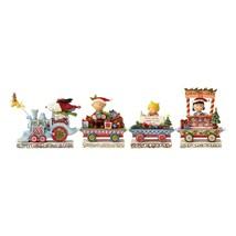 Jim Shore Peanuts Christmas Peanuts Deluxe Train Set Resin Figurine New ... - $99.22