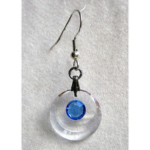 Clear Enhanced Crescent Earrings image 2