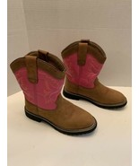 Itasca Girls' Buckaroo Boots - Pink Size 4 Cowboy boots leather  - $24.95