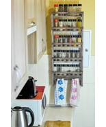 Wooden Spice Rack or Essential Oil Rack With Towel Holders - Rustic Recl... - $86.99