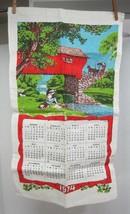Vintage Linen Kitchen Calendar 1974 Covered Bridge Horse 27 1/2 x 16 1/4... - $18.32