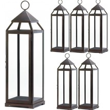 "Lot 6 Bronze 25"" Tall Lantern Extra Large Candleholder Wedding Centerpieces - $242.55"