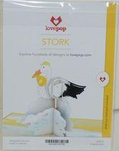 Lovepop LP2078 Stork Pop Up Slide Out Note Card White Envelope Cellophane Wrap image 6