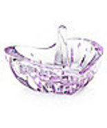 MARQUIS BY waterford CONFETTI PURPLE ring holder CRYSTAL MADE IN GERMANY... - $44.90