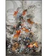 JOHN-RICHARD Painting Abstract Ja Ding's School of Koi DIng - $3,129.00
