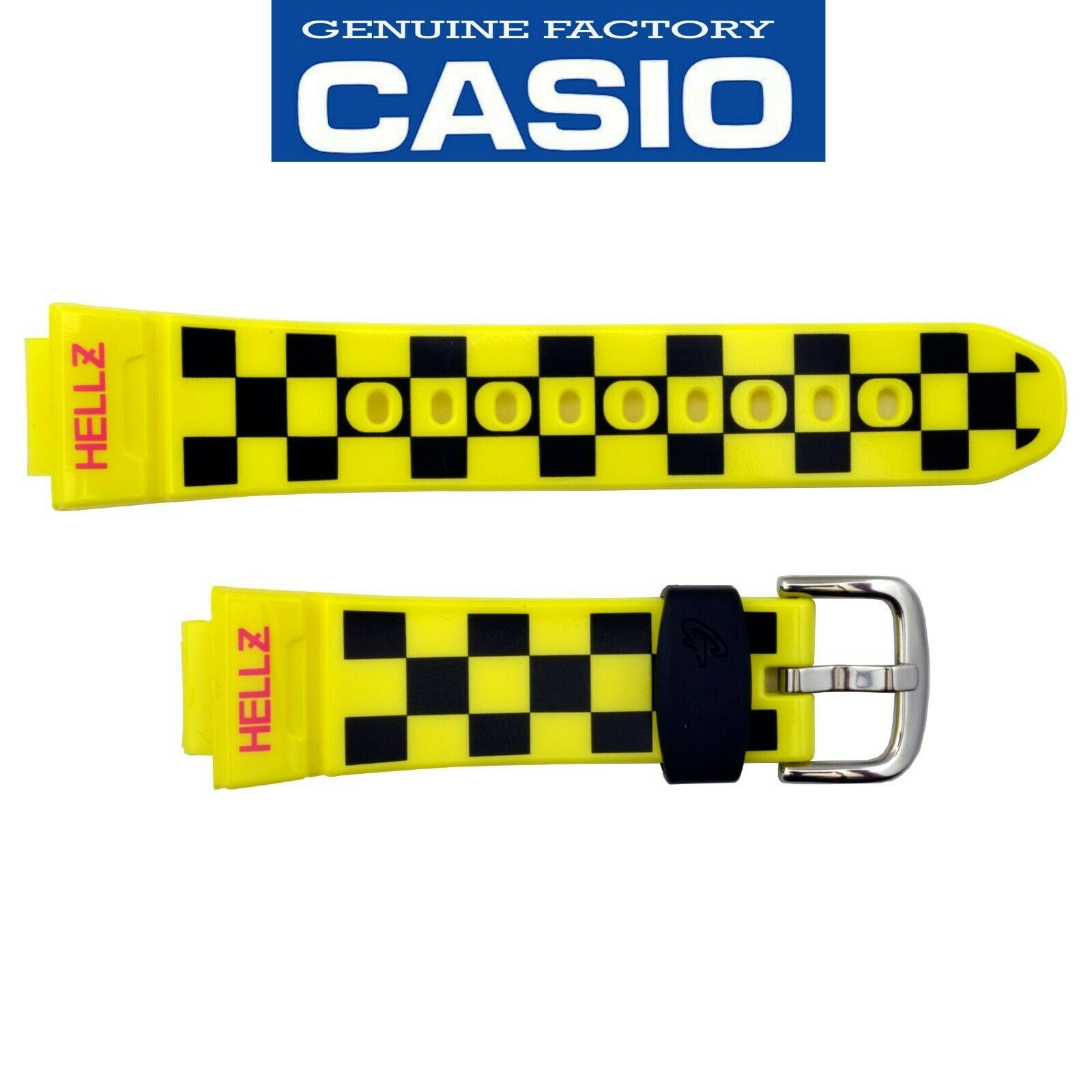 Primary image for Genuine CASIO Baby-G Watch Band Strap BG-5600HZ-9V Yellow  Rubber