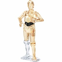 Swarovski Collection Star Wars C-3PO Figurine Of Crystal Clear and Gold New - $741.12