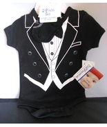 NWT Baby Tuxedo Onesie with Socks 3 Months Black and White Creeper - $20.00