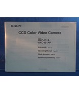 Sony CCD Video Camera DXC 151A Instructions Manual dq - $7.91