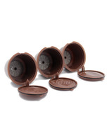 Refillable Reusable Refill Coffee Capsule Pod Cup Filter Bracket Adapter... - $15.29 CAD