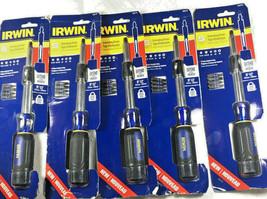 5 PCS IRWIN 6 PC Magnetic Multi Bit Extending Screwdriver - 7 Locking Positions - $48.26
