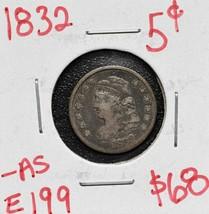 1832 Silver Bust Half Dime 5¢ Coin Lot# E 199