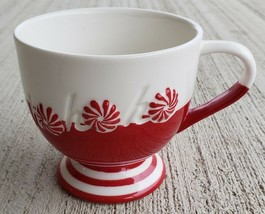 Starbucks Coffee Mug Peppermint Swirl ChristmasHo Ho Ho Red White 2007 Holiday - $15.84