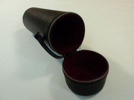 Soligor Camera Lens Case Holder With Strap Brown/Red 420-030315 Vintage ... - $17.46