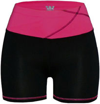 Women's W Sport Two Tone Athletic Work Out Fitness Stretch Gym Shorts AP-4815 image 11
