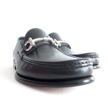 P-310288 New Salvatore Ferragamo Mason Black Leather Loafers Shoes Size ... - $372.05