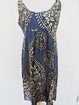 Michael Kors Dress  Sz 10 Blue 100% Silk Batik Print - $26.26