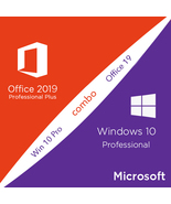 MICROSOFT OFFICE 2019 PRO PLUS + WINDOWS 10 PRO 32 BITS / 64 BITS  - $12.99