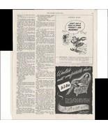 La-Z-Boy Comfortable Chair Kleenex Skiing Box 1948 Vintage Antique Adver... - $1.50