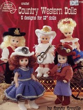 "Country Western Dolls 5 Designs for 13"" Dolls Crochet PATTERN/Instructions - $2.67"