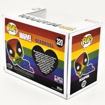 Funko Pop! Marvel Pride 2021 Rainbow Deadpool #320 Vinyl Figure image 4