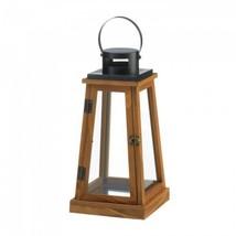 Wooden Pyramid Candle Lantern - $23.99