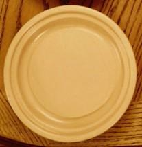 Pfaltzgraff Terrace Buttercream Round Butter Base Plate Stoneware Pottery NLA  - $14.81