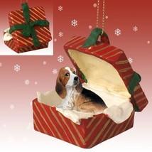 Conversation Concepts Basset Hound Gift Box Red Ornament - $16.99