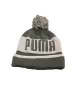 Puma Unisex Gray/White Block Cuffed Pom Beanie - $12.38