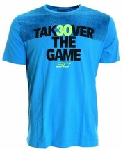 NEW **Under Armour SC30 Takeover tee  men SZ L Steph Curry blue shift  - $24.13