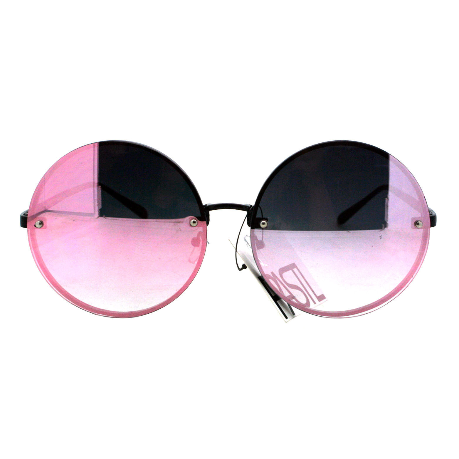 PASTL Super Oversized Round Sunglasses Womens Pink Mirror Lens UV 400 image 5
