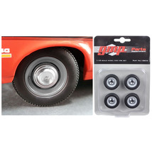 Wheel and Tire Set of 4 from 1970 Yenko Nova Dog Dish 1/18 by GMP 18832 - $26.56