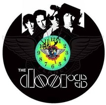 Vinyl Planet Wall Clock The Doors Gift Home Record Unique Decor Upcycled 12''