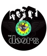 VINYL PLANET Wall Clock THE DOORS Gift Home Record Unique Decor upcycled... - $26.24