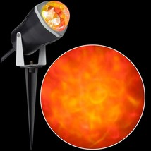 Red and Yellow Fire and Ice Projection Light Gemmy NEW - €13,21 EUR