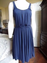 BETSEY JOHNSON Blue Sleeveless Stretch Jersey Fit & Flare Sheath Dress S - €17,07 EUR