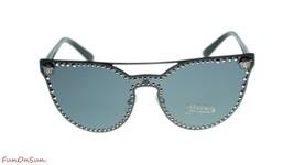Versace Cat Eye Sunglasses VE2177 100987 Matte Black Silver Grey Lens 45mm - $202.73