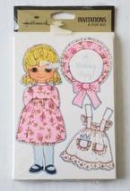 Vintage Hallmark Birthday Party Invitations Rebecca Sue Paper Doll pack ... - $9.89